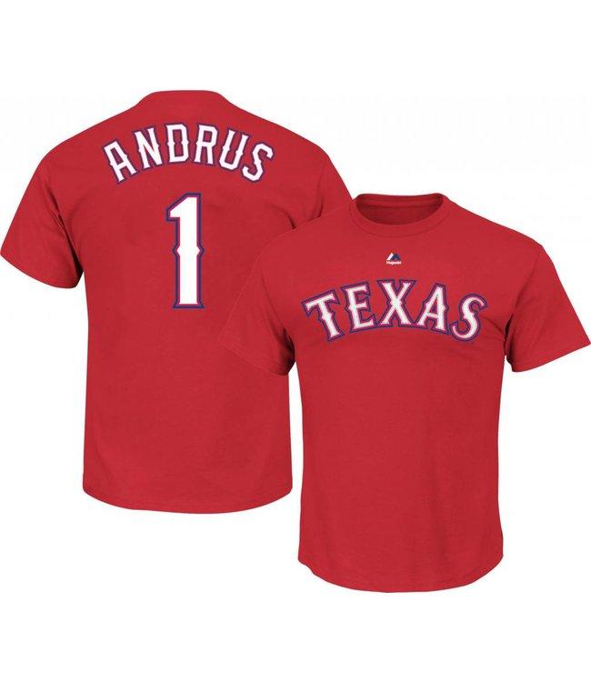 timeless design 5ff6c 2feb2 MAJESTIC Elvis Andrus Texas Rangers Youth T-shirt