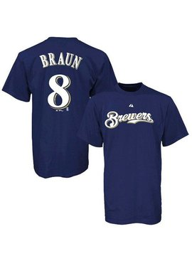 MAJESTIC R. Braun Milwaukee Brewers Youth T-Shirt