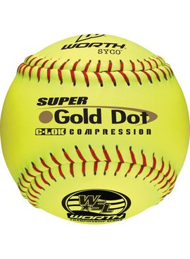 WORTH Gold Dot WSL Softball Ball (UN)