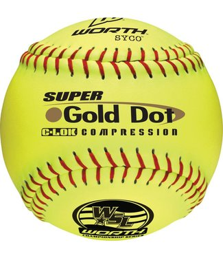 WORTH Balle de Softball GOLD DOT WSL (UN)