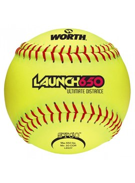 WORTH Balle de Softball Launch 650 Ultimate Distance de Worth
