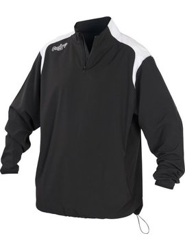RAWLINGS Youth 1/4 Zip Long Sleeve Jacket
