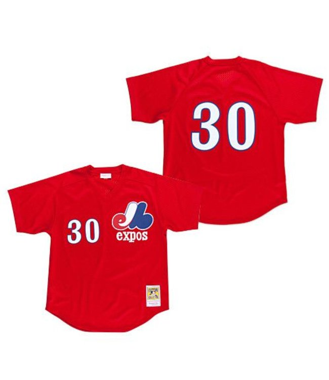 finest selection b2a86 6b15b Mitchell & Ness MLB Tim Raines BP Jersey Montreal Expos