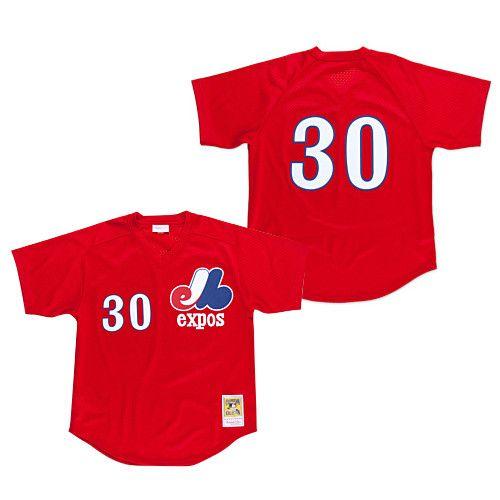 Mitchell   Ness MLB Tim Raines BP Jersey Montreal Expos ... 9d4060c8c