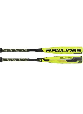 "RAWLINGS Quatro Full Composite 2 3/4"" USSSA Youth Baseball Bat (-10)"