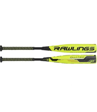 "RAWLINGS Bâton de Baseball Quatro Full Composite 2 3/4"" USSSA Youth Baseball Bat (-10)"