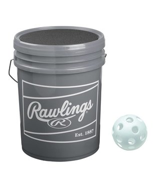 RAWLINGS Plastic Training Baseball Ball Bucket (3 Dz)