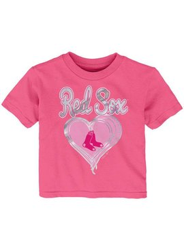 MAJESTIC Unfoiled Love Boston Red Sox Kids Short Sleeve Shirt