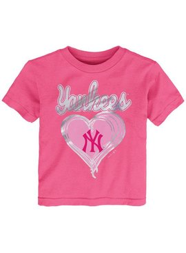 MAJESTIC Unfoiled Love New York Yankees Kids Short Sleeve Shirt