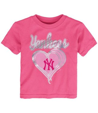 MAJESTIC Unfoiled Love New York Yankees Kids Short Sleeve Shirt