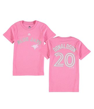 MAJESTIC Official Blue Jays Donaldson Short Sleeve Girl's Tee
