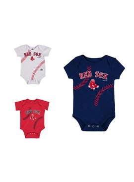 MAJESTIC Fan-Tastic Red Sox Baseball 3-Pack Set Infant