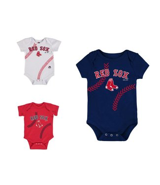 MAJESTIC Fan-Tastic Red Sox Baseball 3-Pack Set Infant