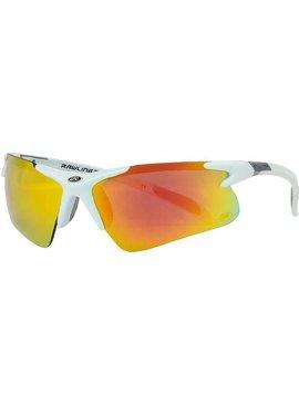 RAWLINGS Adult Half-Rim R3 Sunglasses White Mat/Orange