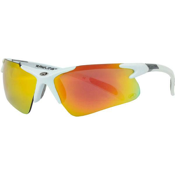 RAWLINGS Adult Half-Rim R3 Sunglasses White Mat/Orange