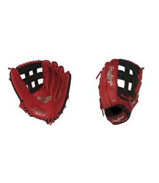"RAWLINGS G3029-6SB Gamer XLE 12.75"" Red/Black Baseball Glove"