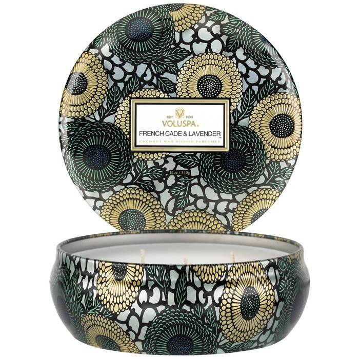Voluspa 3 WICK CANDLE IN TIN