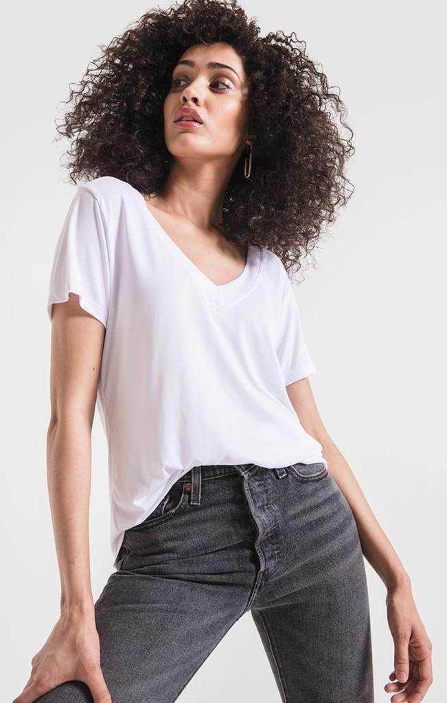 Z Supply THE LUX MODAL DEEP V-NECK TEE
