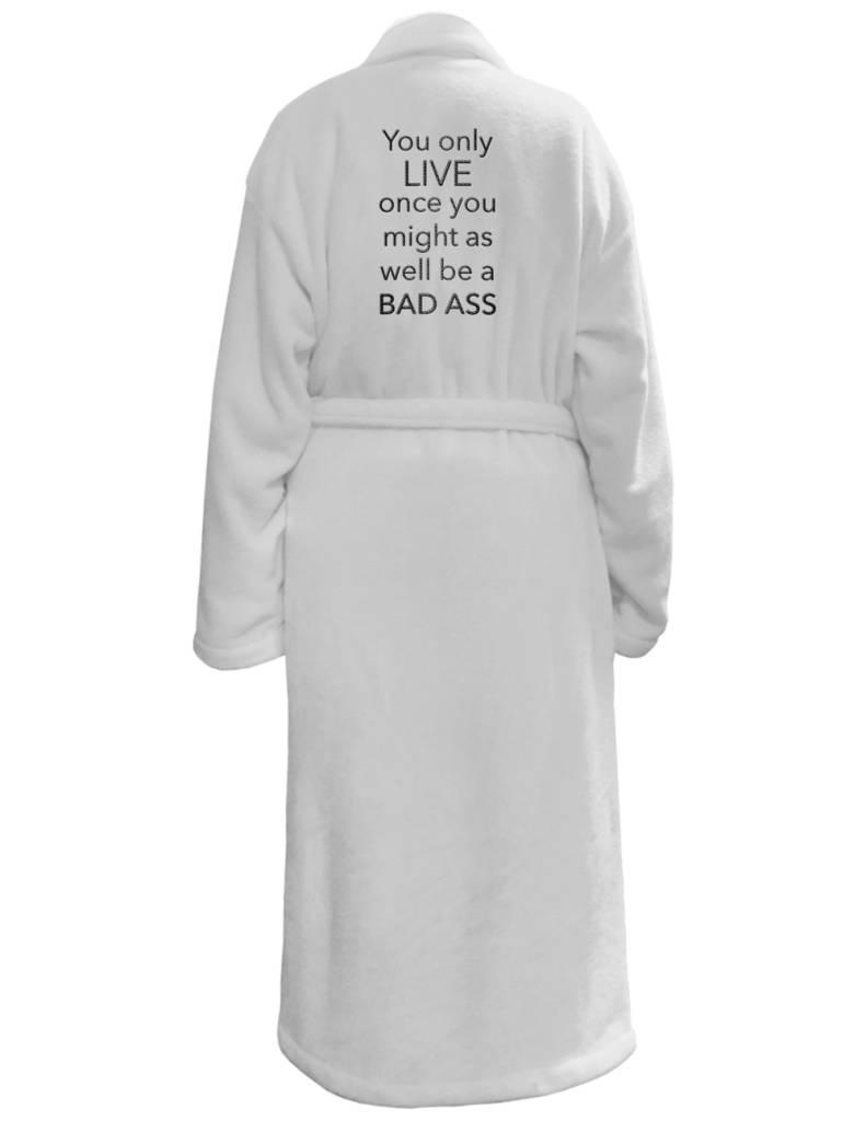 LA Trading PLUSH ROBE WHITE