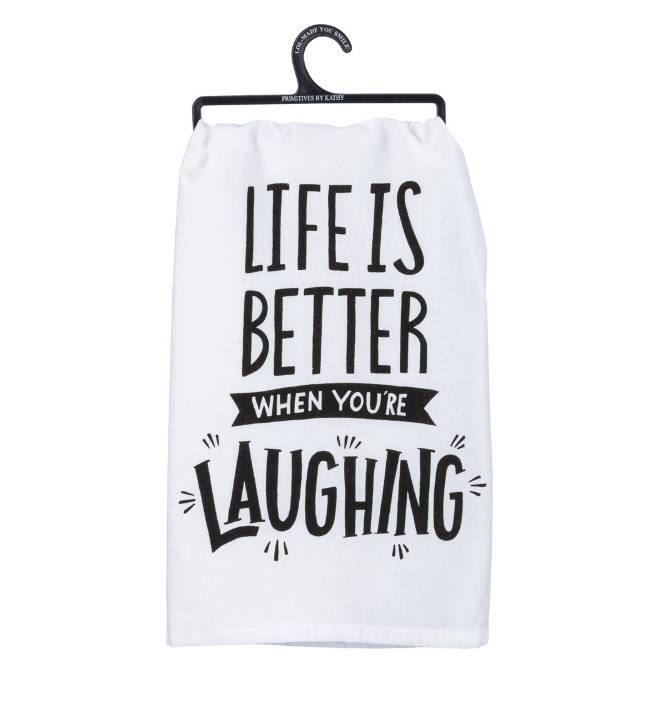 Primitives by Kathy LAUGHING TOWEL
