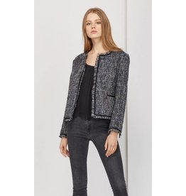 Greylin Tati Tweed Fringe Jacket