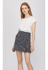 Greylin Tati Tweed Fringe Skirt