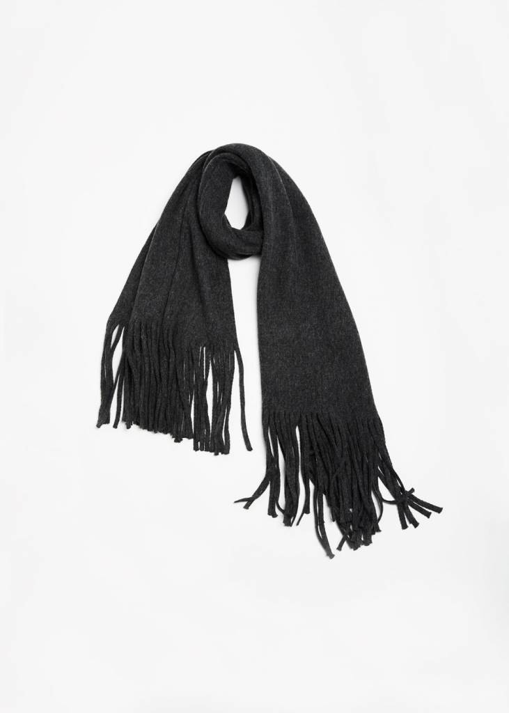 Look by M LONG FRINGE SCARF