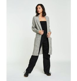 Backdrop Fashion Moss Stitch Open Long Cardigan
