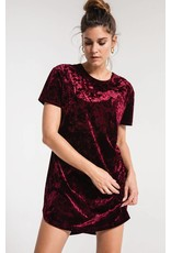 Z Supply The Crushed Velour Tie Back Dress