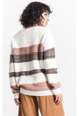 Rag Poets Pallas Oversized Striped Sweater