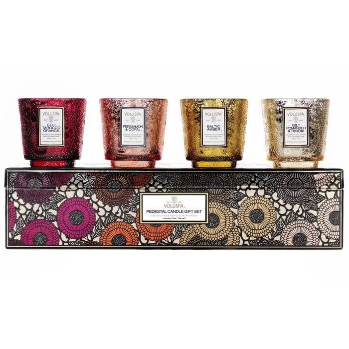 Voluspa 4 Piece Pedastal Gift Set