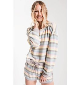 Z Supply The Rainbow Stripe Pullover