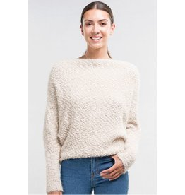 Fuzzy Popcorn Boatneck Sweater