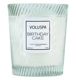 Voluspa Classic Candle in Textured Glass