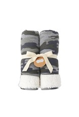 Mud Pie Camo Sweatshirt Blanket