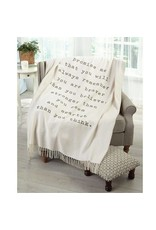 "Mud Pie Pazitive 50"" x 70"" Blanket"