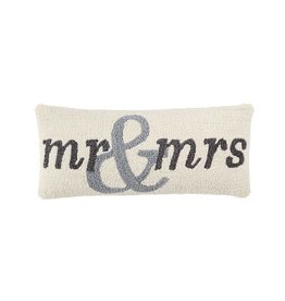Mud Pie Mr & Mrs Hook Pillow