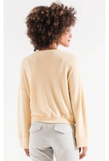 Z Supply Sweater Knit Notch Front Sweater