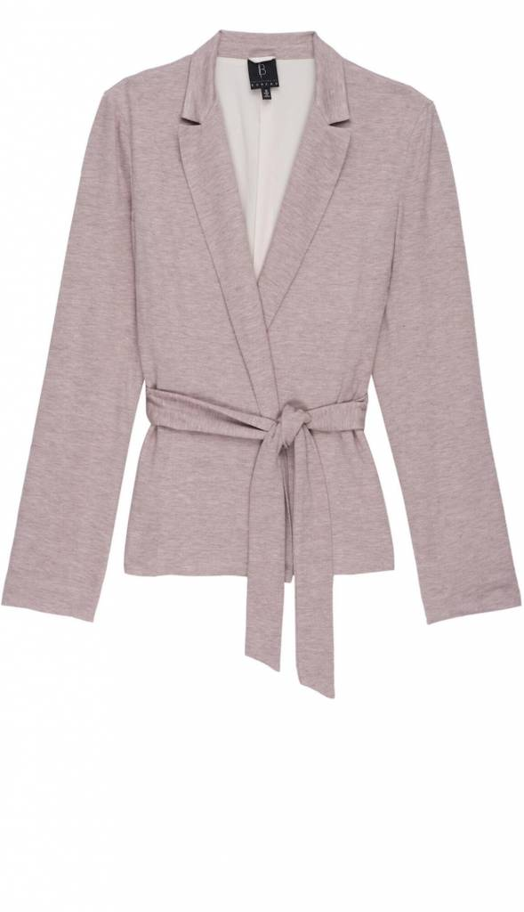 B Collection by Bobeau Baron L/S Tie Front Jacket