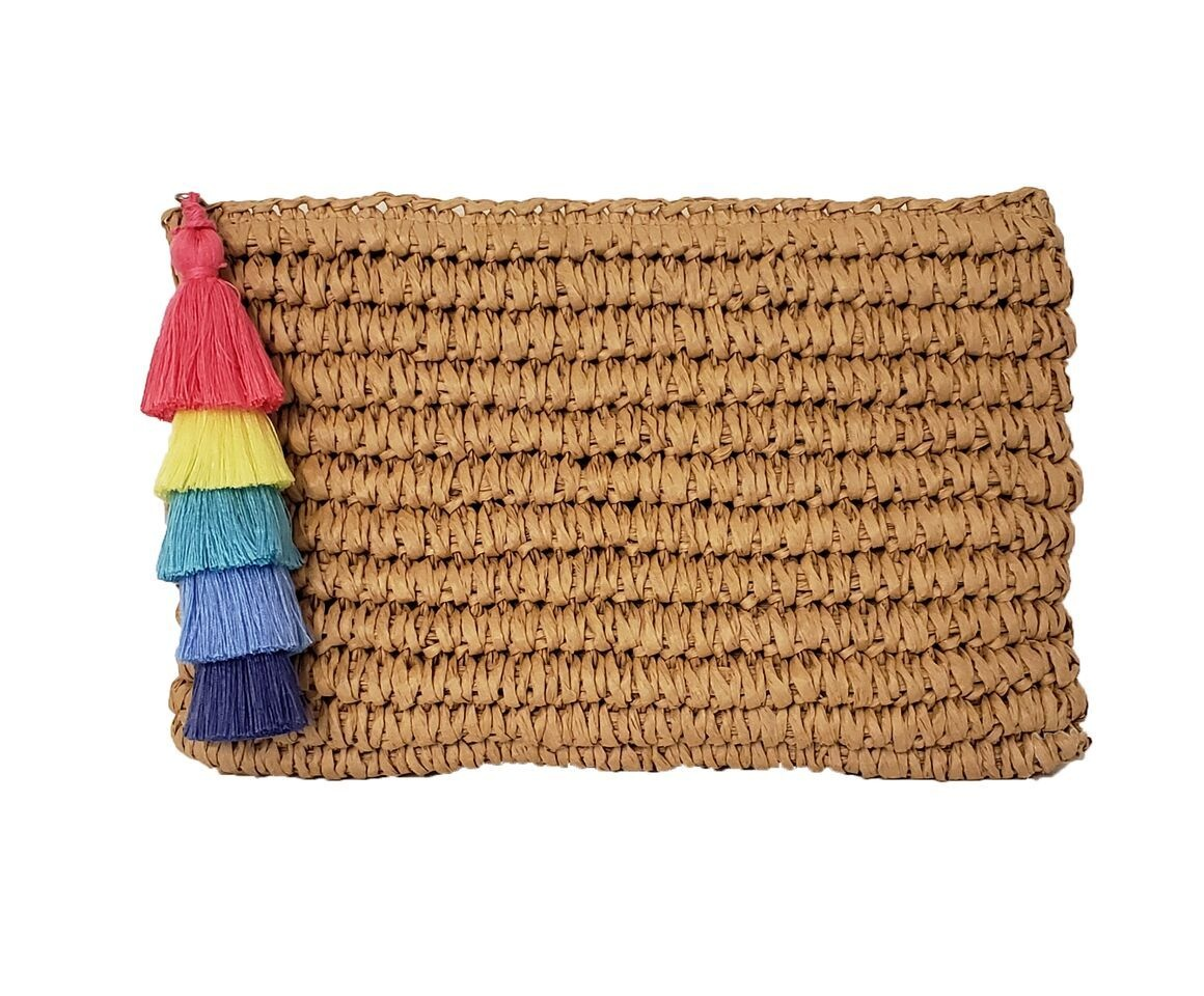 Fallon & Royce Jules Straw Clutch