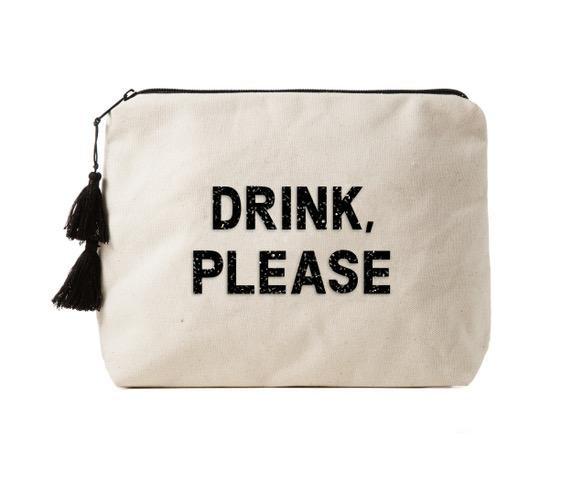 Fallon & Royce Canvas Bikini Bag - Crystal