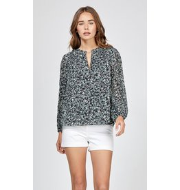 Greylin Fenty Printed Peasant Top