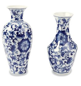 Mud Pie Curved Chinoiserie Vase