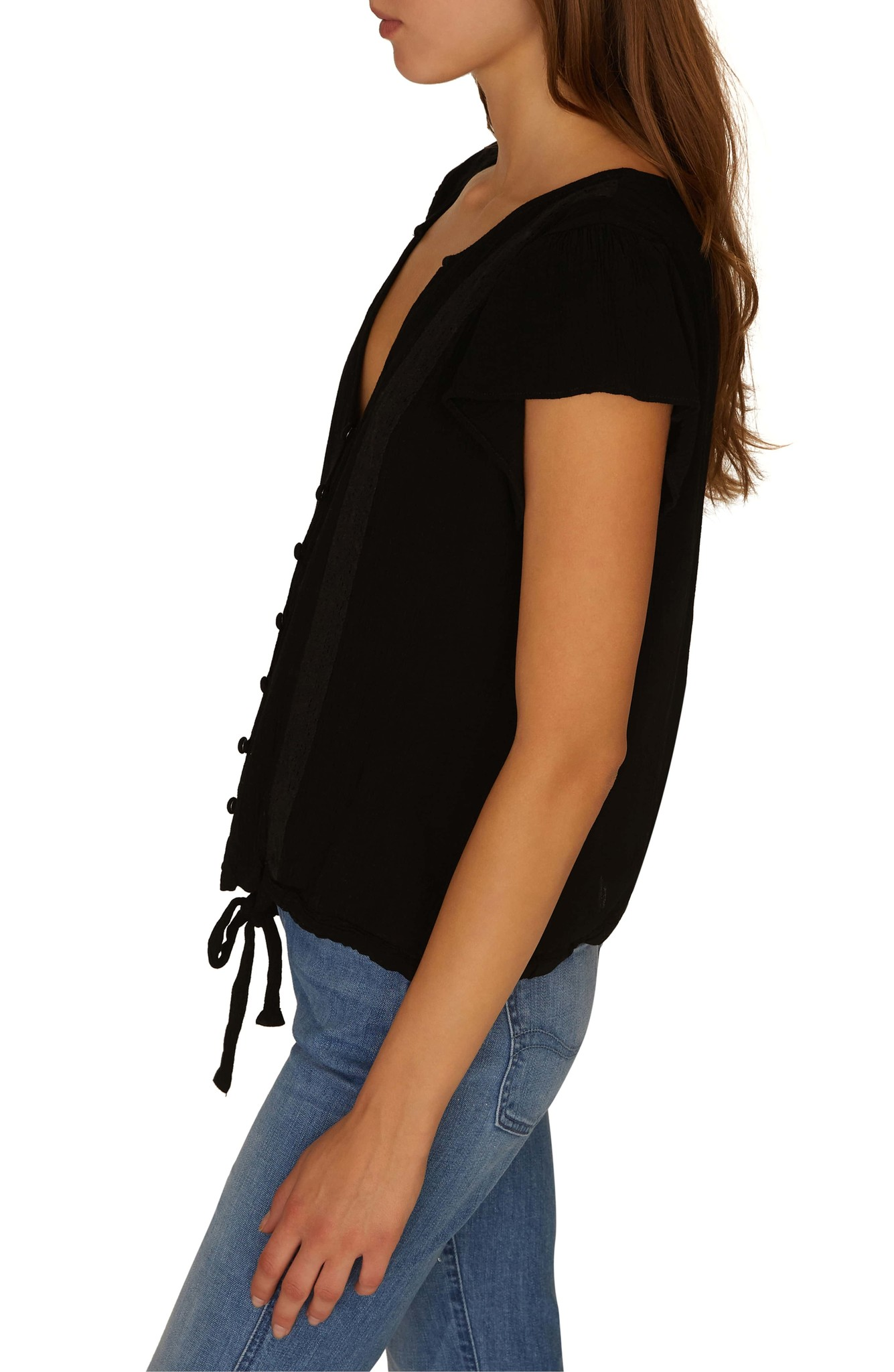 Sanctuary Clothing Boheme Tie Front Top