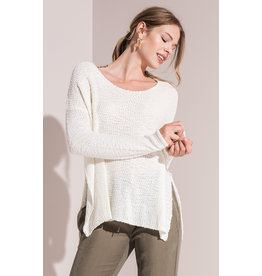 Rag Poets Harper Side Split Sweater