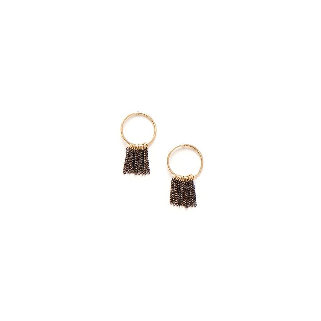 Lover's Tempo Olympia Fringe Hoop Earrings