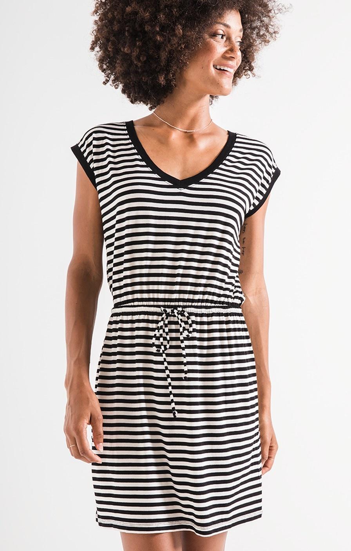 Z Supply The Striped Shirred Dress