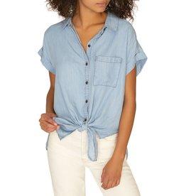 Sanctuary Clothing Mod Tie Front Shirt