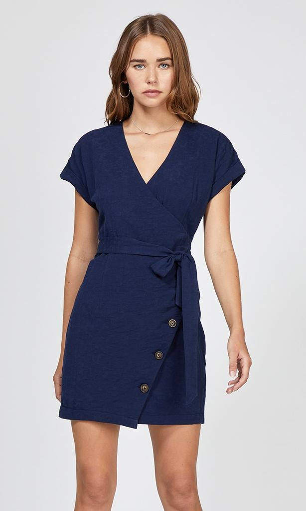 Greylin Karla Button Up Wrap Dress