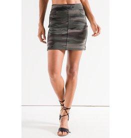 Z Supply The Camo Knit Mini Skirt